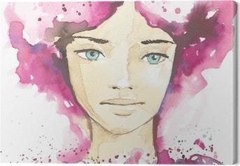 Tableau sur toile Illustration du portrait abstrait d'une femme