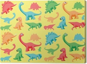 Tableau sur toile Illustration vectorielle de dinosaures papier peint 1