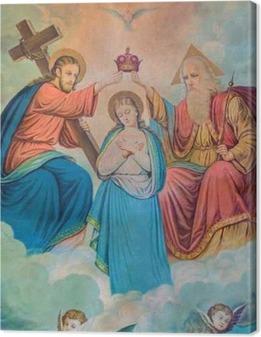 Tableau sur toile Image typique catholique de Couronnement de la Vierge Marie