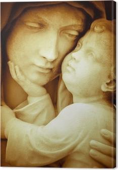 Tableau sur toile Image vintage de la vierge Marie portant l'enfant Jésus