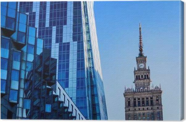 Tableau sur toile immeubles de bureaux modernes de larchitecture