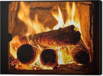 Tableau sur toile Incendie dans une cheminée