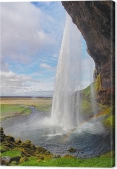 Tableau sur toile Islande cascade - Seljalandsfoss