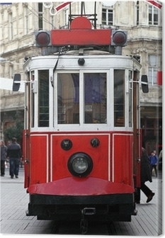 Tableau sur toile Istanbul Tram publique