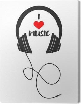 Tableau sur toile J'aime la musique