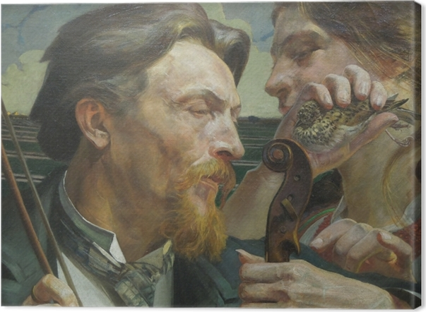 Tableau sur toile Jacek Malczewski - Alouette - Reproductions