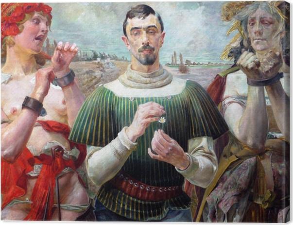 Tableau sur toile Jacek Malczewski - Le Hamlet Polonais - Reproductions