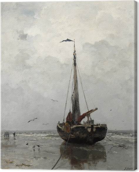 Tableau sur toile Jacob Maris - Bateau de pêche - Reproductions