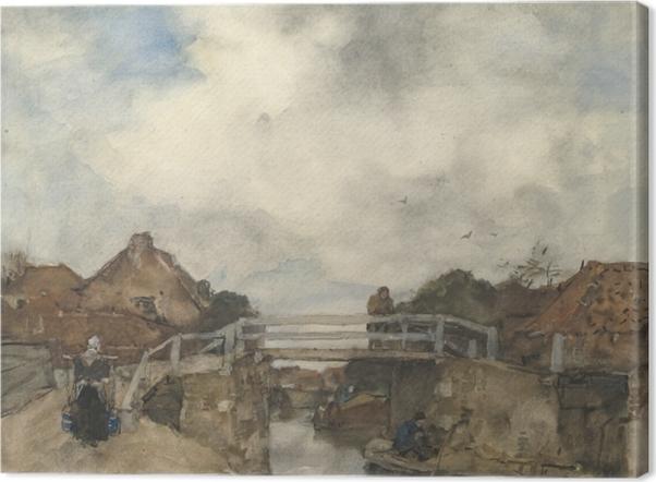 Tableau sur toile Jacob Maris - Canal hollandais, Rijswijk - Reproductions