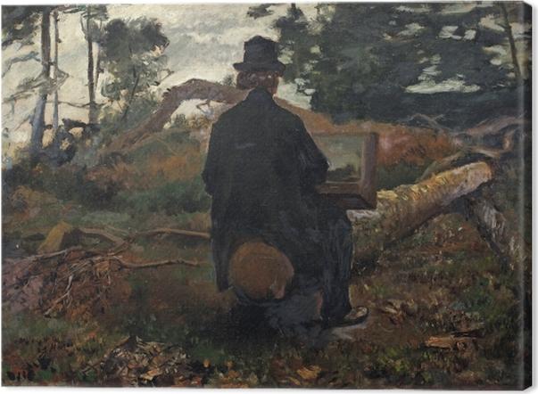Tableau sur toile Jacob Maris - Le peintre Frederik Hendrik Kaemmerer à l'oeuvre à Oosterbeek - Reproductions
