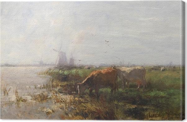 Tableau sur toile Jacob Maris - Pâturage - Reproductions