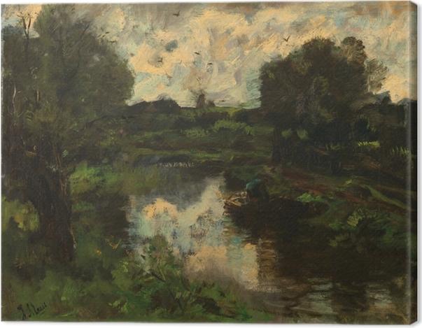 Tableau sur toile Jacob Maris - Polder après l'orage - Reproductions