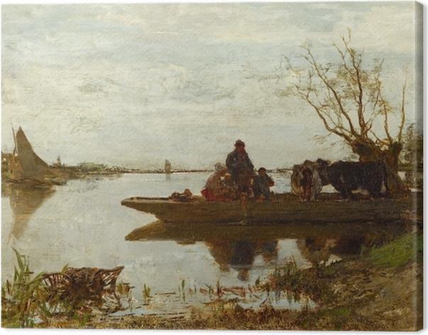 Tableau sur toile Jacob Maris - Traversée de ferry - Reproductions