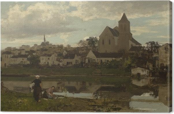 Tableau sur toile Jacob Maris - Vue à Montigny - Reproductions