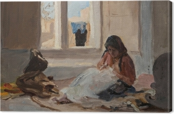 Tableau sur toile Jan Ciągliński - Nazareth. Du voyage en Palestine.