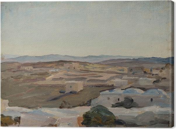Tableau sur toile Jan Ciągliński - Ramallah près de Jérusalem. Du voyage en Palestine. - Reproductions