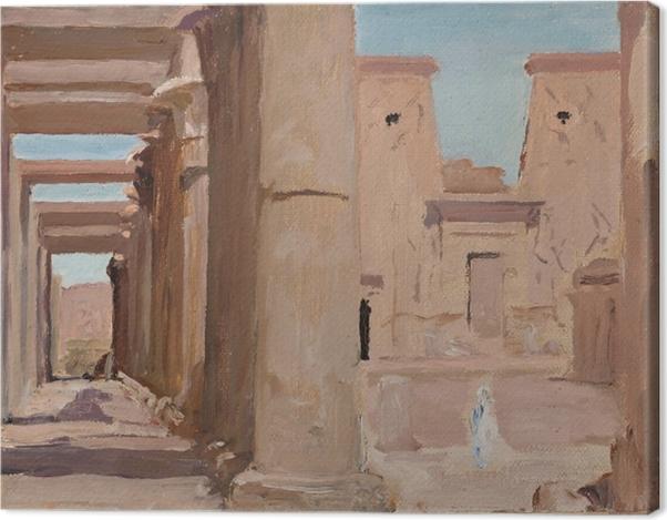 Tableau sur toile Jan Ciągliński - Temple. Du voyage en Egypte. - Reproductions