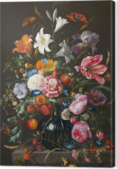 Tableau sur toile Jan Davidsz - Vase of Flowers - Reproductions