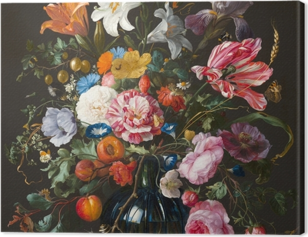 Tableau sur toile Jan Davidsz - Vase of Flowers - Reproductions