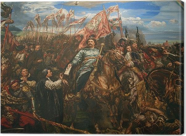Tableau sur toile Jan Matejko - Jean III Sobieski envoie un message de victoire au pape après la bataille de Vienne (détail) -
