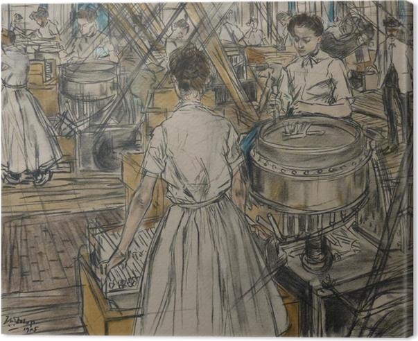 Tableau sur toile Jan Toorop - Fabrique de bougies à Gouda, 1 - Reproductions