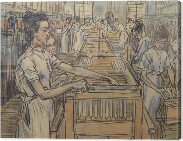 Tableau sur toile Jan Toorop - Fabrique de bougies à Gouda, 2 - Reproductions