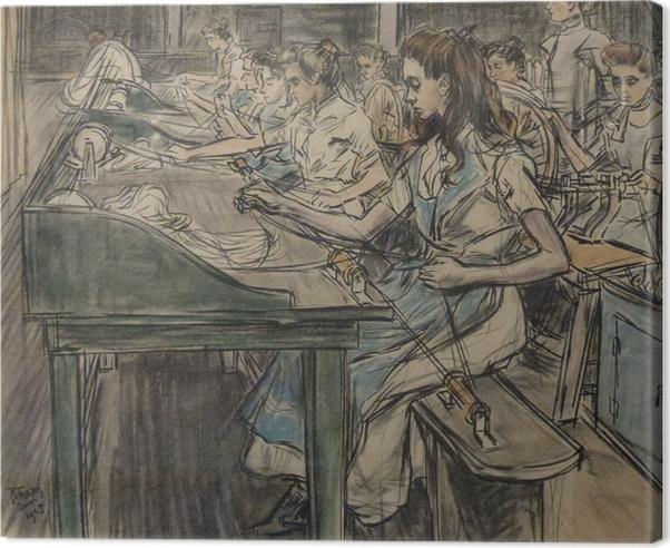 Tableau sur toile Jan Toorop - Fabrique de bougies à Gouda, 3 - Reproductions