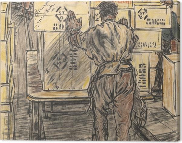 Tableau sur toile Jan Toorop - Fabrique de bougies à Gouda, 4 - Entrepôt - Reproductions