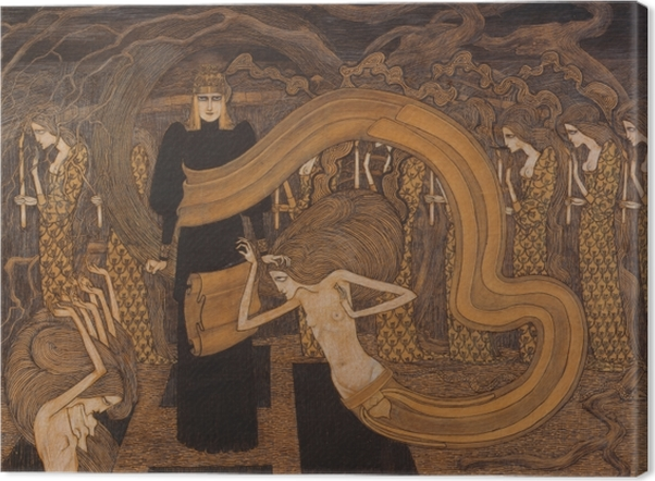 Tableau sur toile Jan Toorop - Fatalisme - Reproductions