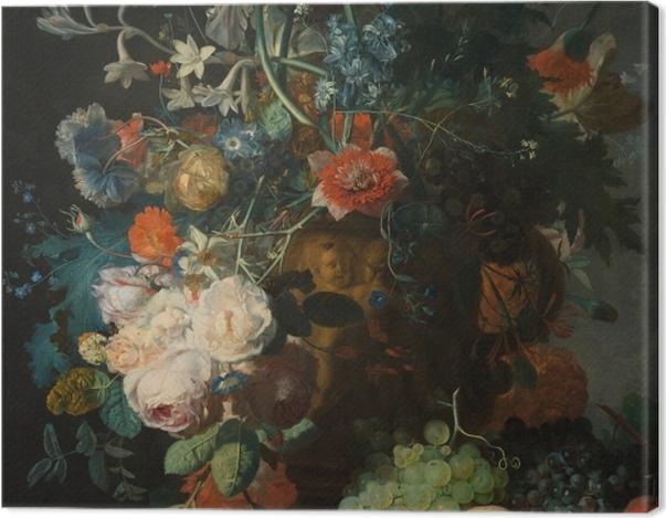 Tableau sur toile Jan van Huysum - Still life with flowers - Reproductions