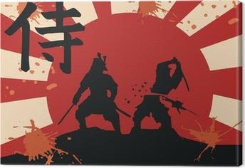 Tableau sur toile Japon samurai