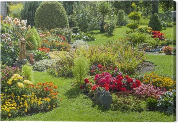 tableau sur toile jardin fleuri et paysag pixers nous vivons pour changer. Black Bedroom Furniture Sets. Home Design Ideas