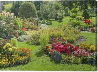 Tableaux sur toile terrasse et jardin fleuri • Pixers ...