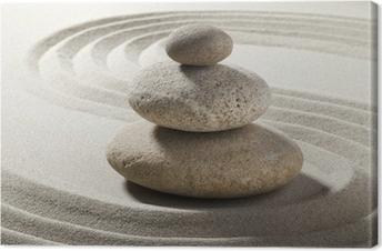 Tableau sur toile Jardin Zen with sable et galets