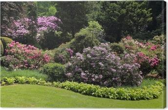 Tableaux sur toile terrasse et jardin fleuri pixers nous vivons pour changer - Terrasse et jardin fleuri paris ...