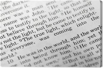Tableau sur toile Jean 1: 9, un verset de la Bible populaire du Nouveau Testament