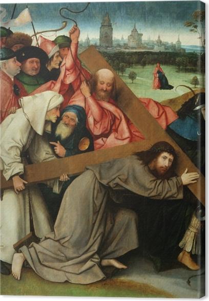 Tableau sur toile Jérôme Bosch - Le Portement de Croix - Reproductions