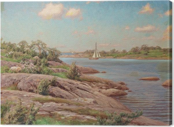 Tableau sur toile Johan Krouthén - Motif de l'archipel - Reproductions