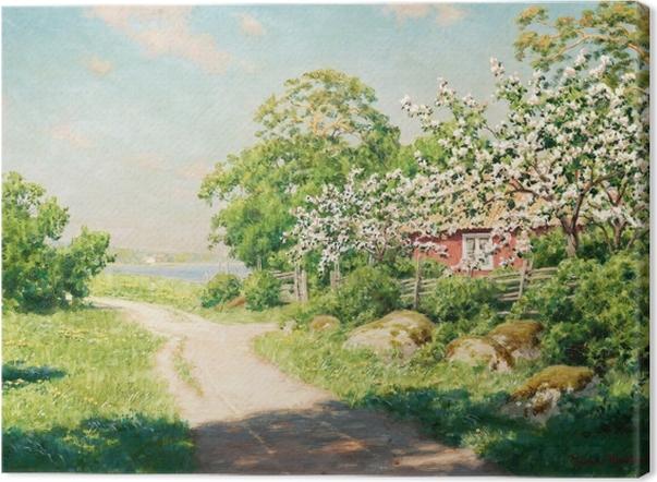 Tableau sur toile Johan Krouthén - Route de campagne - Reproductions