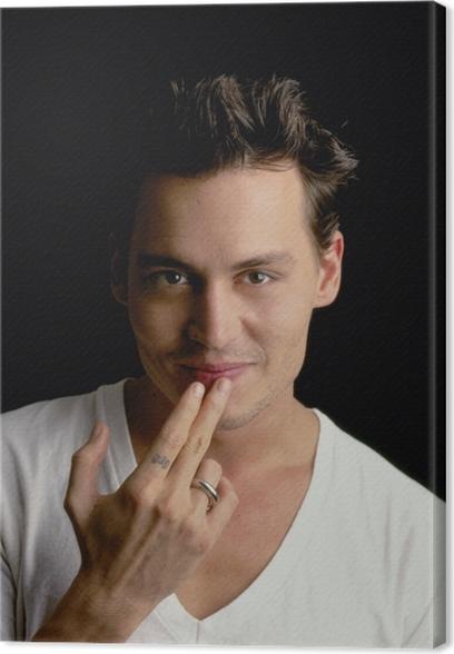 Tableau sur toile Johnny Depp - Criteo
