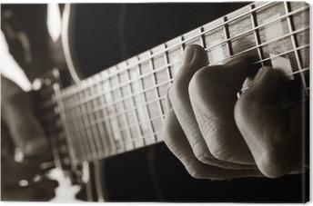 Tableau sur toile Jouer de la guitare de jazz