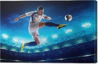 Tableau sur toile Joueur de football en action