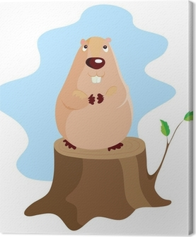 Tableau sur toile Jour de la marmotte