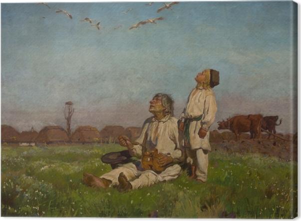Tableau sur toile Józef Chełmoński - Cigognes - Reproductions
