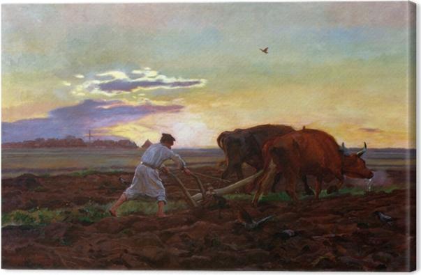 Tableau sur toile Józef Chełmoński - Labourage - Reproductions
