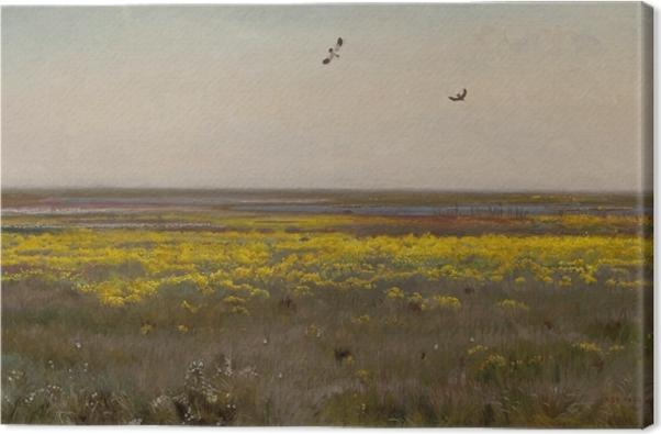 Tableau sur toile Józef Chełmoński - Le populage des marais - Reproductions