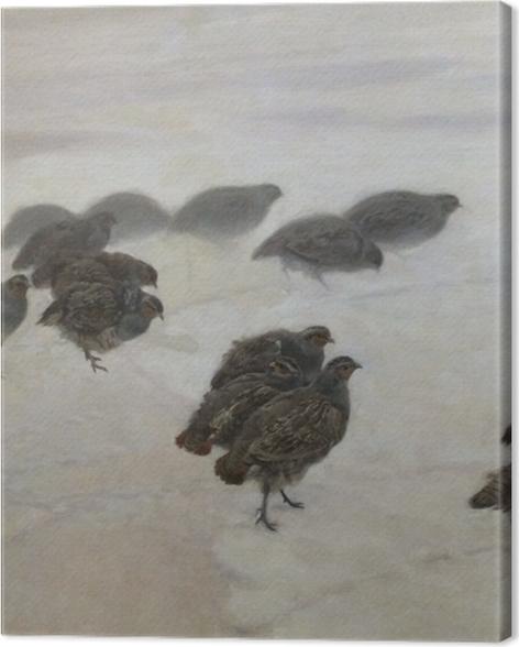 Tableau sur toile Józef Chełmoński - Perdrix - Reproductions