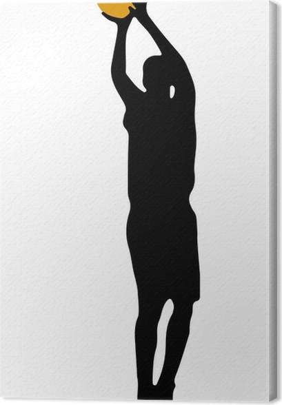 5c13ab64187ba Tableau sur toile Jump shot joueur de basket-ball • Pixers® - Nous ...