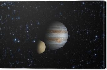 Tableau sur toile Jupiter et il est par satellite