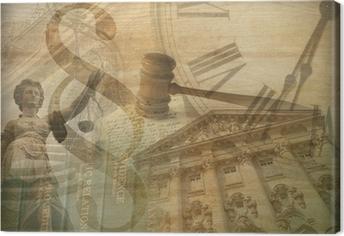 Tableau sur toile Justice Collage